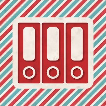 Conceito de dados sobre fundo listrado de vermelho e azul. conceito vintage em design plano.