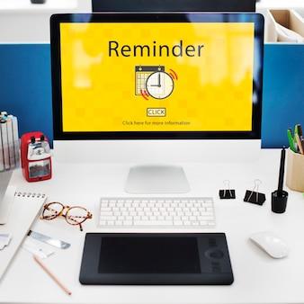 Conceito de data de nota de prioridade de lembrete de calendário