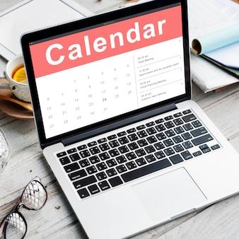 Conceito de data de reunião de compromisso de calendário