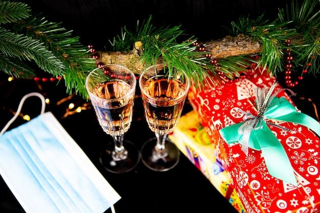 Conceito de decoração de ano novo