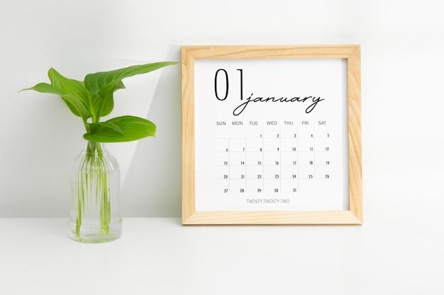 Conceito de definição de metas com calendário