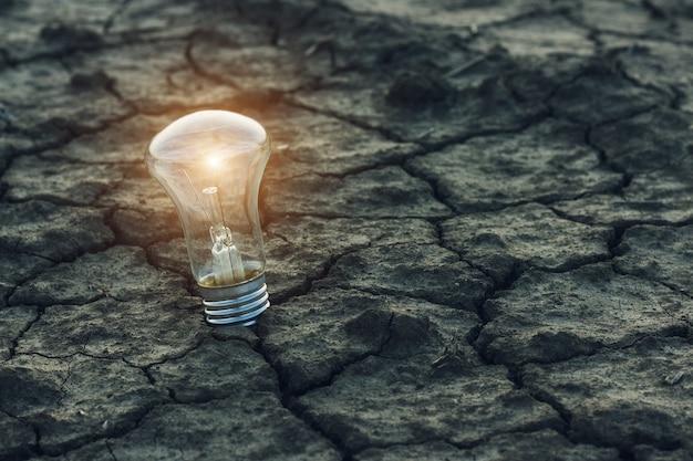 Conceito de desastre natural. temporada de seca. idéias e novas soluções de problemas com o aquecimento global.
