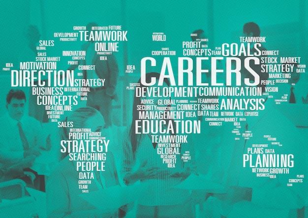 Conceito de desenvolvimento de dados de cooperação de análise de carreiras