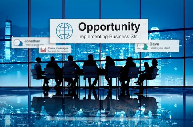 Conceito de desenvolvimento de escolha de oportunidade de oportunidade