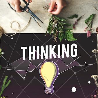 Conceito de design de inspiração de visão de progresso de idéias