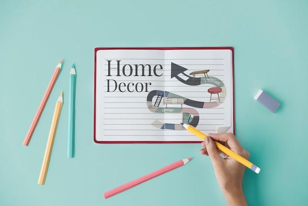 Conceito de design de interiores de renovação de reparos domésticos Foto gratuita