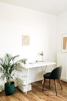 Conceito de design de interiores nórdico escandinavo moderno e minimalista