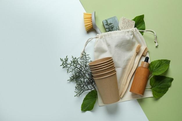 Conceito de desperdício zero ecológico em dois tons