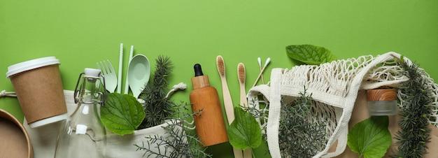 Conceito de desperdício zero ecológico no verde