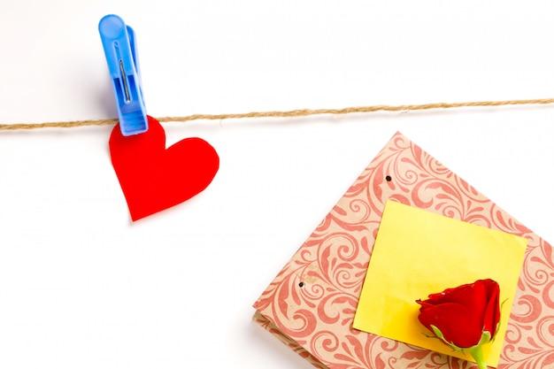 Conceito de dia dos namorados, aniversário, dia das mães e saudação de aniversário, copyspace