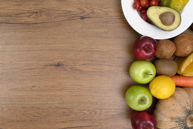 Conceito de dieta de colesterol alimentação saudável, comer almoço saudável
