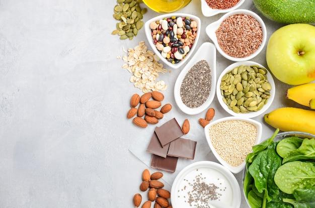 Conceito de dieta de nutrição de alimentos saudáveis