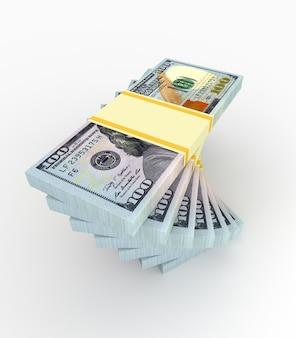Conceito de dinheiro e finanças - notas de muitos dólares