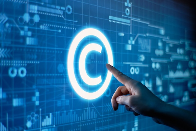 Conceito de direitos autorais e propriedade intelectual Foto Premium