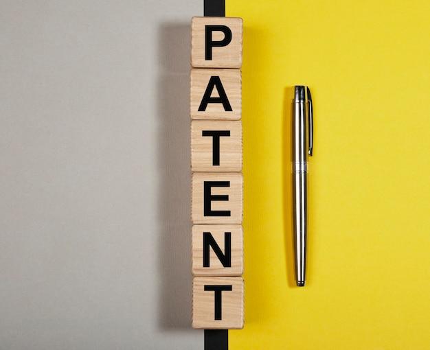 Conceito de direitos protegidos e direitos autorais de palavra de patente