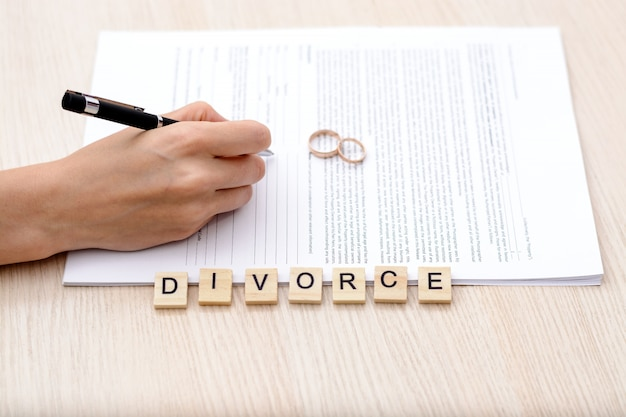Conceito de divórcio.