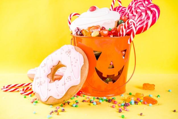 Conceito de doces de halloween