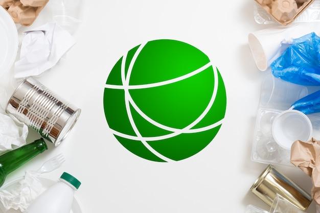 Conceito de ecologia global. gestão de resíduos. triagem e reciclagem. proteção ambiental.