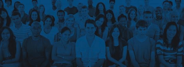 Conceito de educação de treinamento de equipe de adolescentes de diversidade