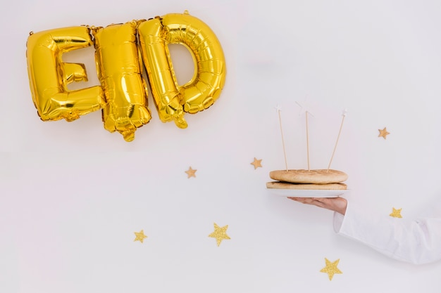 Conceito de eid al-fitr com letras