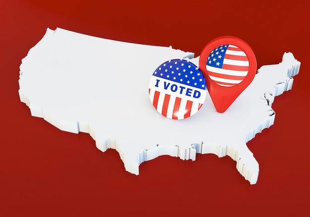 Conceito de eleições americanas com espaço de cópia