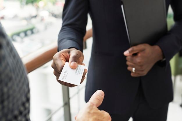 Conceito de empreendedor de empresa de comunicação de negócios