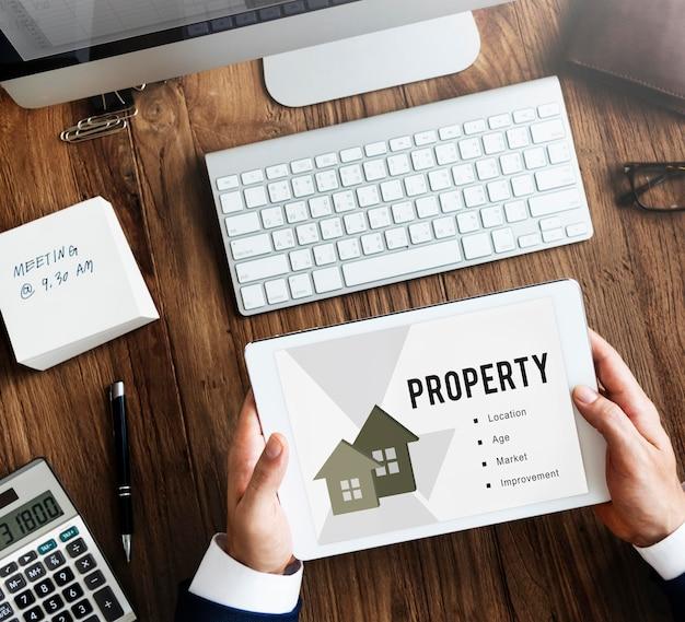 Conceito de empréstimo hipotecário imobiliário