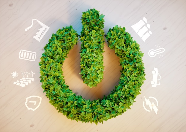 Conceito de energia ecológica limpa e verde