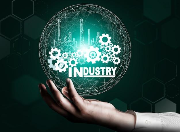 Conceito de engenharia da indústria futurista 4.0.