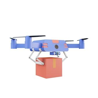 Conceito de entrega de drones