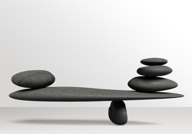 Conceito de equilíbrio de pedra