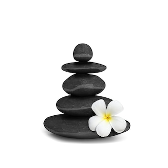 Conceito de equilíbrio de pedras zen