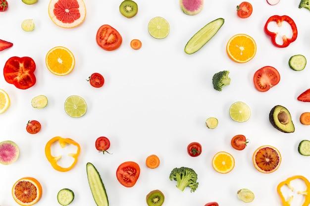 Conceito de espaço de cópia de alimentação saudável