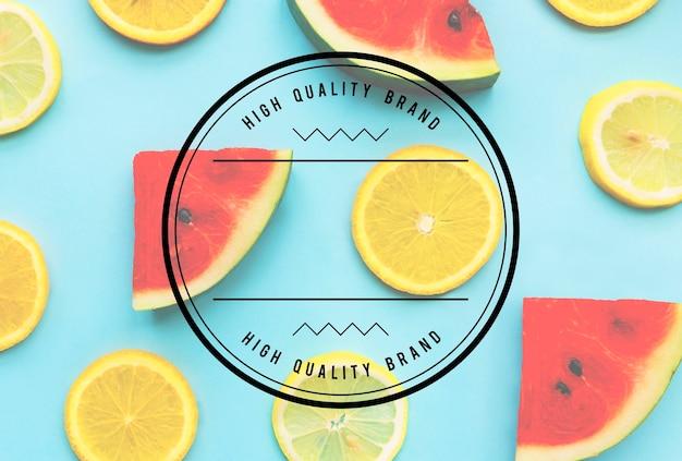 Conceito de espaço de cópia de banner de marketing de marca de alta qualidade