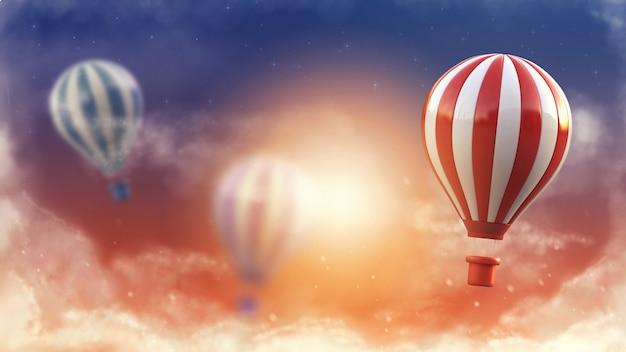 Conceito de estilo de vida balão.