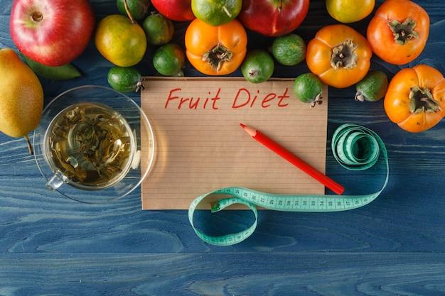 Conceito de estilo de vida saudável, dieta e fitness