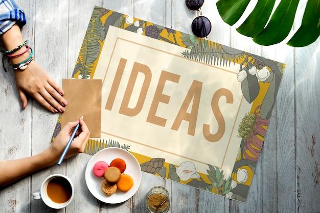 Conceito de estilo vintage fresco de ideias