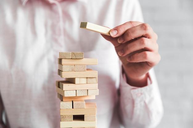 Conceito de estratégia de negócios com um jogo
