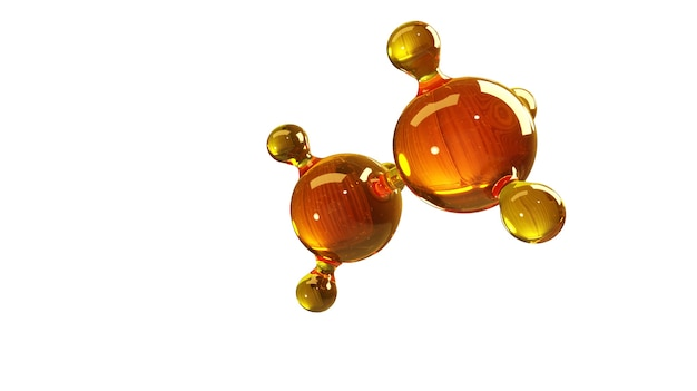 Conceito de estrutura de óleo de motor ou gás