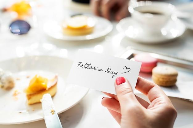 Conceito de evento de comemoração do dia do pai