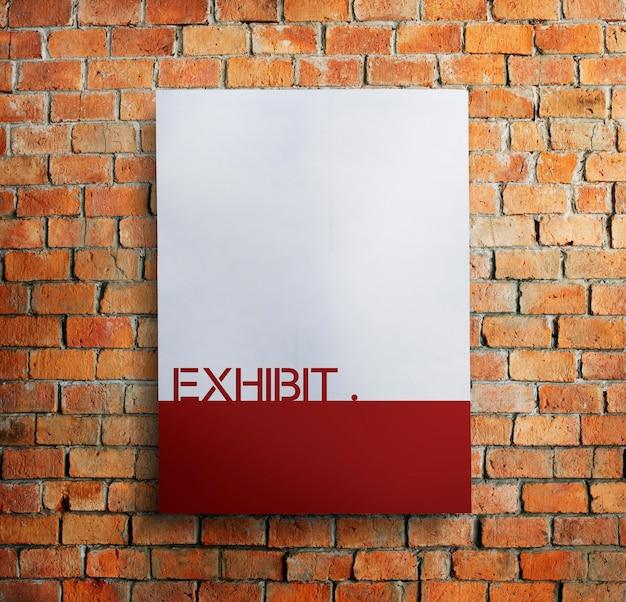 Conceito de evento de exibição pública de exposição presente