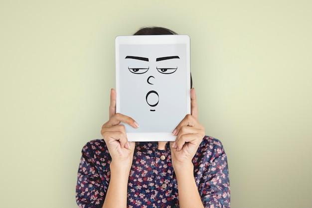 Conceito de expressão emocional de pessoas