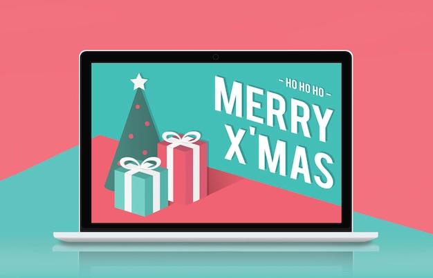 Conceito de feriado de celebração de feliz natal