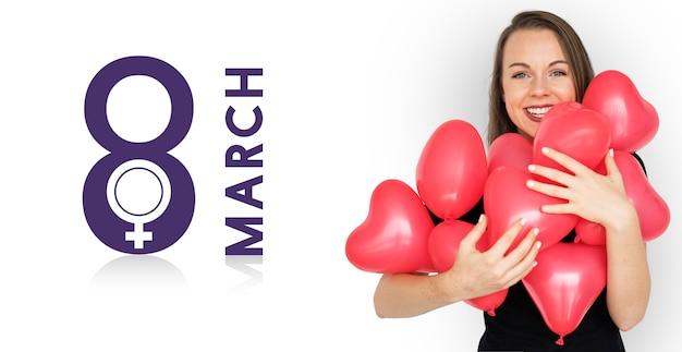 Conceito de feriado do dia internacional da mulher