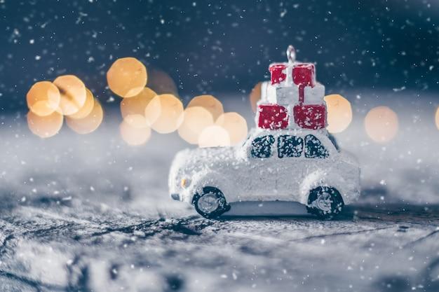 Conceito de férias de cartão de natal