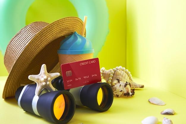Conceito de férias de verão de plano de viagem financeira