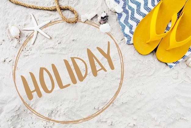 Conceito de férias na praia, sol, mar