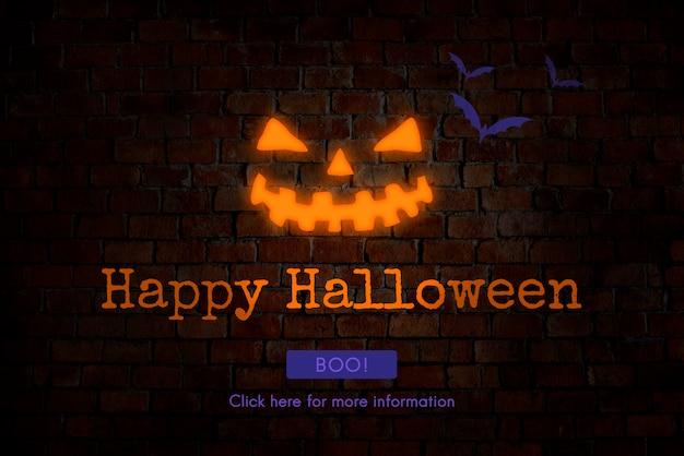 Conceito de festa de doces ou travessuras de halloween