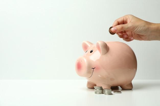 Conceito de finanças e economia em fundo branco