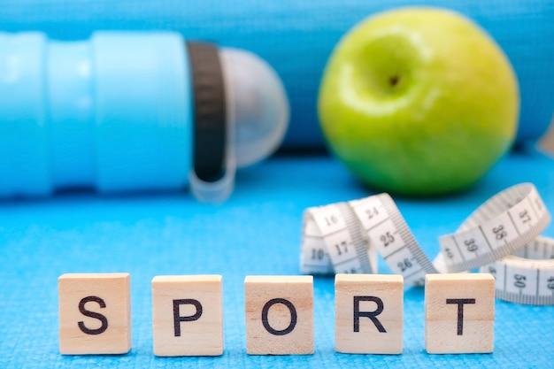 Conceito de fitness e esportes